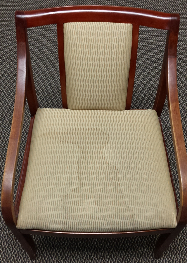 coffee stained chair