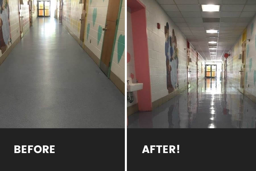 vinyl before after