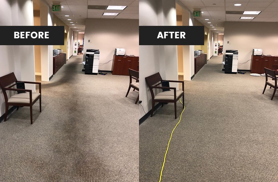 commercial carpet before and after